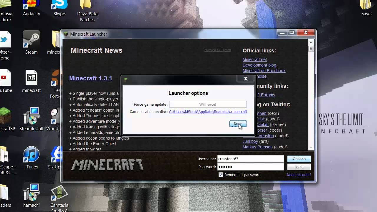 how to fix crash report in minecraft