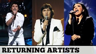 Eurovision RETURNING ARTISTS   My Top 20 & Favourite Song