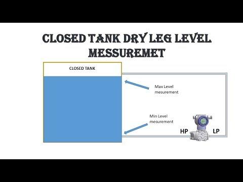 Dp type level transmitter | Closed tank level measurement | Dry leg