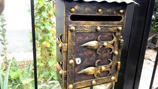 красивый кованый почтовый ящик на забор ,почтовый ящик для частного дома металл
