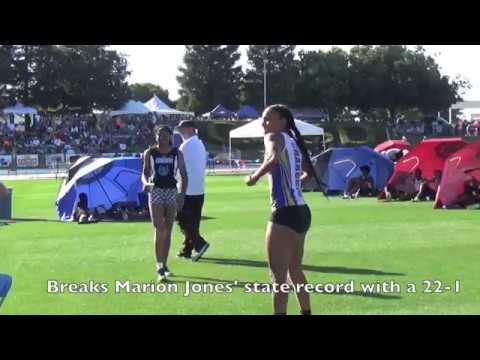 Tara Davis State Track Championship 2017