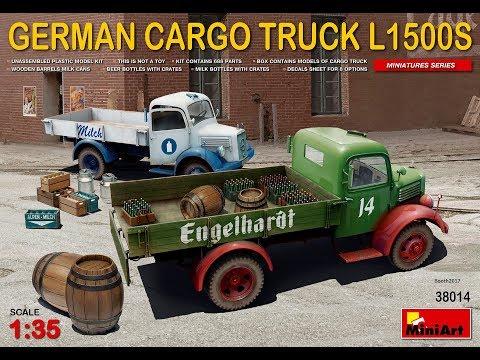 MiniArt German Cargo Truck L1500S 38014 In-box