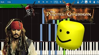 Pirates Of The Caribbean Medley But It's Roblox Death Sound!!