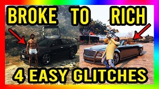 GTA 5 - Top 4 SOLO Money Glitches in TO MAKE YOU RICH! (Everyone Can Do This) OVER $3 MILL PER HOUR!