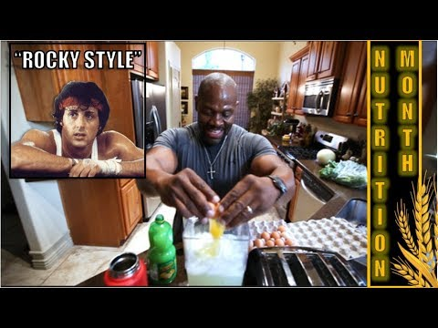 "Post Workout Out Meal ***  RAW EGGS ***   ""ROCKY Style""   (Eat within 15 minutes after workout)"