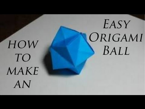 How to make an easy origami ball youtube for How to make things from paper folding
