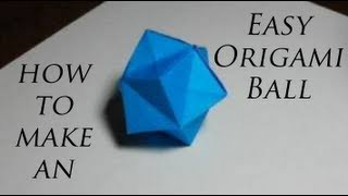 How to Make an Easy Origami Ball