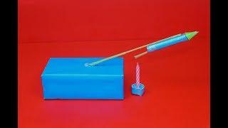 How to Make a Mini Rocket Match Rocket - 60 Foot Ultimate Matchbox Rocket Make Mini Rocket Home Made