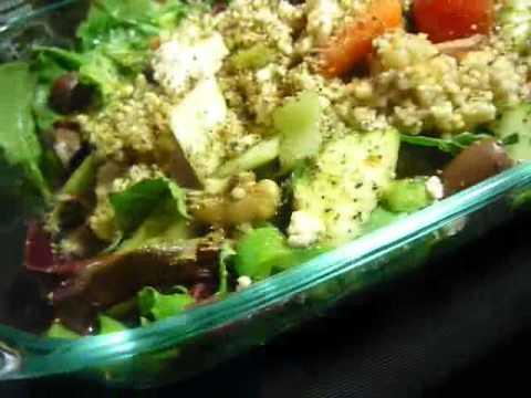 99.9% Organic Millet Quinoa Greek Salad!