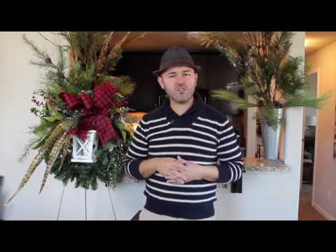 Making A Farmhouse Style Christmas Wreath With Lantern Farmhouse Christmas Wreath Idea Youtube
