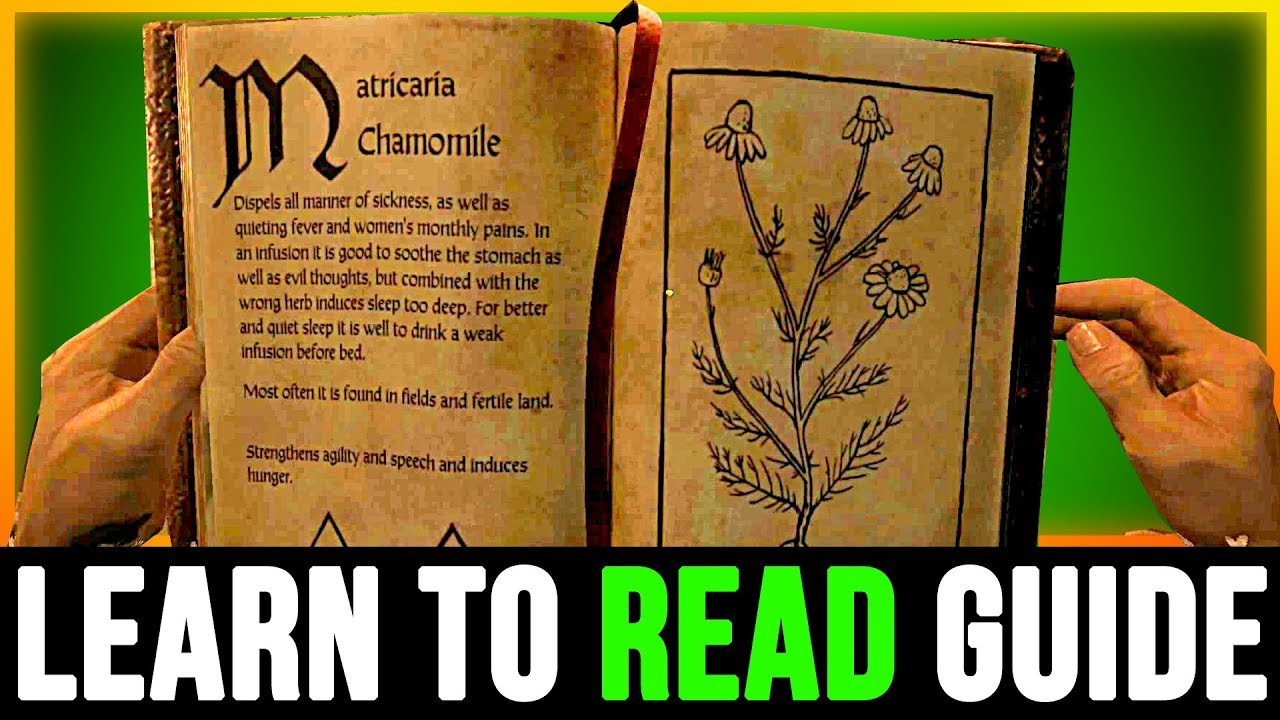 LEARN TO READ - Kingdom Come Deliverance (How to Level The Reading Skill  Location)