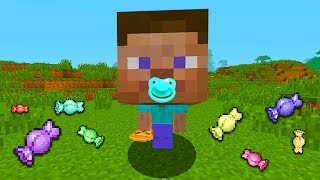BABY MINECRAFT -  BABY STEVE GOES TRICK OR TREATING!🎃