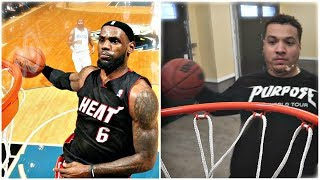 RECREATING THE BEST BASKETBALL DUNKS IN HISTORY!! (LEBRON JAMES, LONZO BALL)