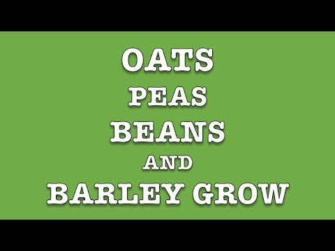 OATS PEAS BEANS & BARLEY GROW - A Traditional And Good Old Folk Song to Sing Along To