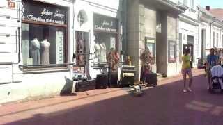 Native American performers in Pärnu, Estonia