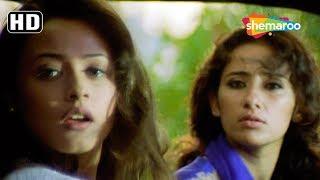 Saif Ali Khan, Manisha Koirala, Ajay Devgn escapes from Cops - Kachche Dhaage - Action Movie Scene
