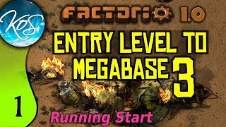 Factorio 1.0 Entry Level to Megabase 3, Ep 1: HOW TO START - Guide, Tutorial