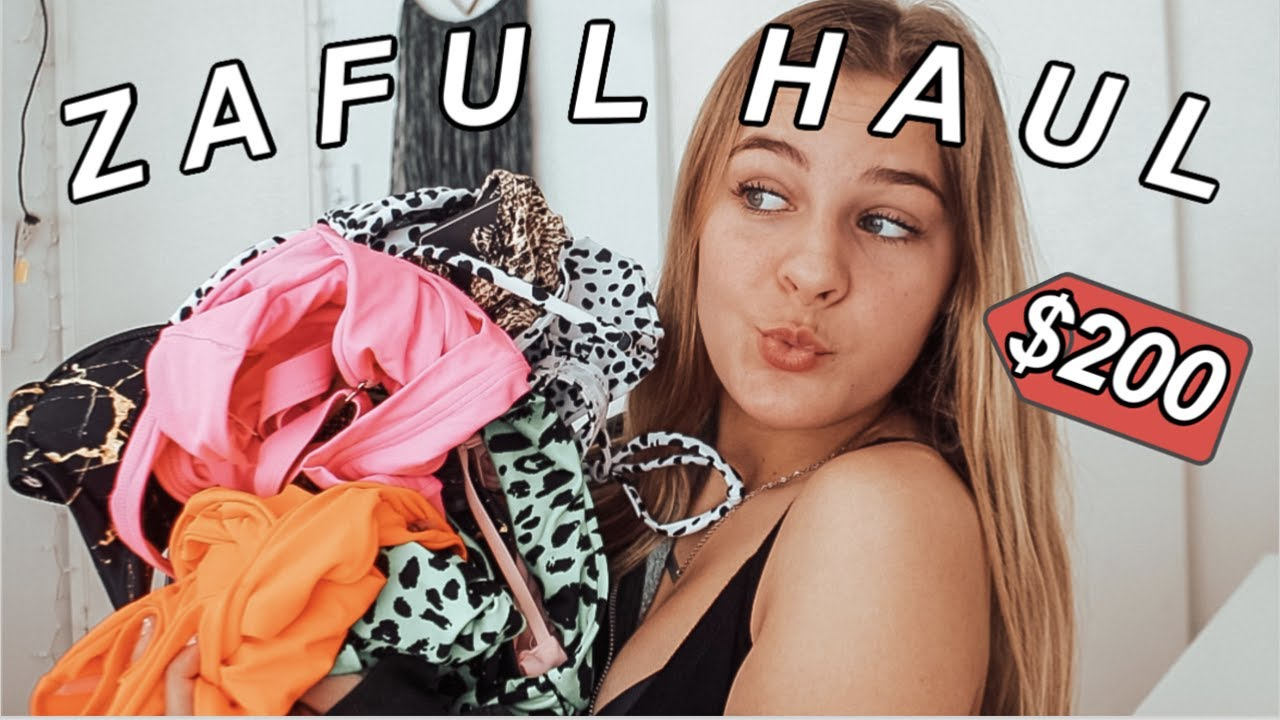 teen tries ZAFUL clothing // try-on