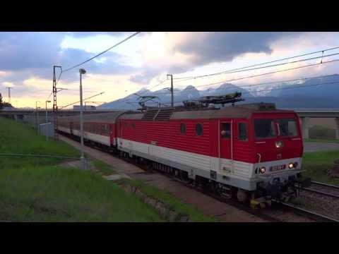 Koncert pri rozjazde elektrickej lokomotívy ZSSK 163.119-1 Peršing @ Os7847 Štrba zastávka