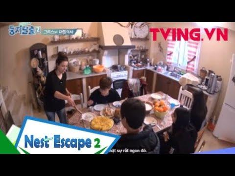 (Vietsub) NEST ESCAPE 2   Cả team quây quần và thưởng thức món ăn đặc sản của Hy Lạp