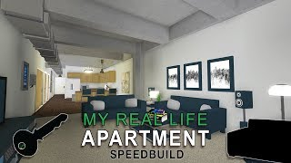 Roblox Bloxburg | My Real Life Apartment Speedbuild