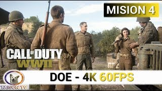 Call of Duty WWII DOE Mision 4 en Falaise 4K 60 FPS
