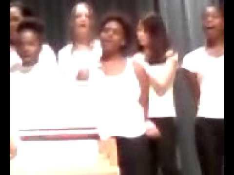 Jasmine Cundiff singing with Spirit Creek Middle School Middle School in Hephzibah, Ga.