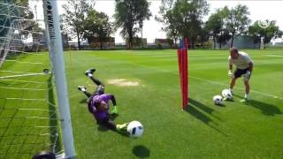 Get a close-up of how coach Luis Llopis works with our goalkeepers