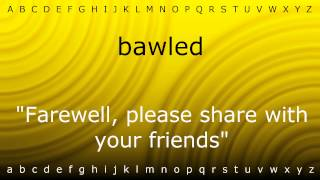 Here I will show you how to say 'bawled' with Zira.mp4