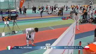 2018 1234 T128 M F Individual Halle GER European Cadet Circuit RED BOLDZIL POL vs PALMERINI ITA