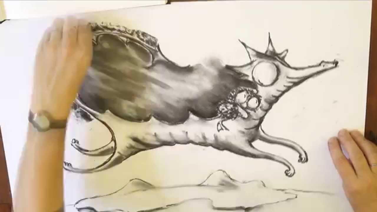 Watch Debi Gliori illustrate Dragon and Penguin from 'Dragon Loves Penguin'
