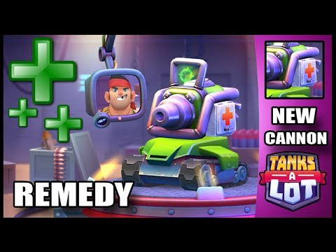 NEW REMEDY CANNON - Tanks A Lot - Ios Android Battle Royale Game - Gameplay