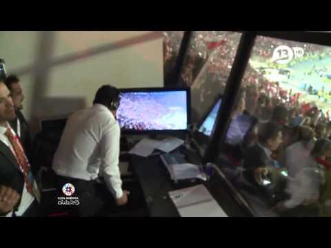 Aldo Romulo Schiappacasse y su celebración como Campeón de América