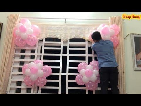 Hướng dẫn làm hoa bong bóng trang trí sinh nhật – Thầy linh bong bóng