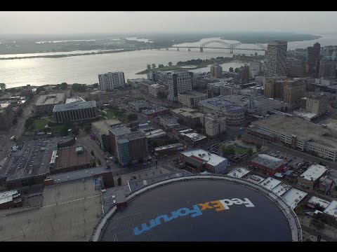 FedEx Forum  4K drone shot