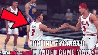 NBA 2K14 MODDED MYCAREER ONLINE !! CRAZY MODDED GAME MODE BETTER THAN NBA 2K18