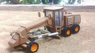 How to make Motor Grader - Amazing RC Toys