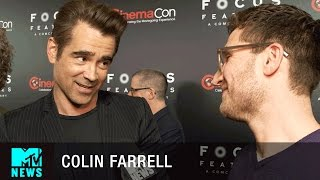 Colin Farrell Gives a 'Fantastic Beasts' Update & Meets Gary Oldman | CinemaCon 2017 | MTV News