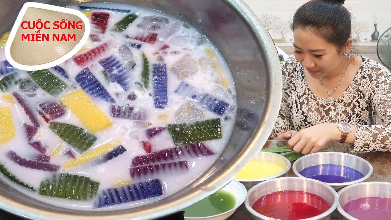 Chè thạch rau câu ngũ sắc tự nhiên – ngon – đẹp – đơn giản (đãi cả nhà) #namviet