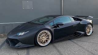 Drifting Huracan Forged Carbon Makeover, Very LOUD!