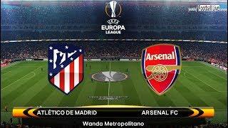 Arsenal vs atletico madrid | uefa europa league | pes 2018 gameplay pc