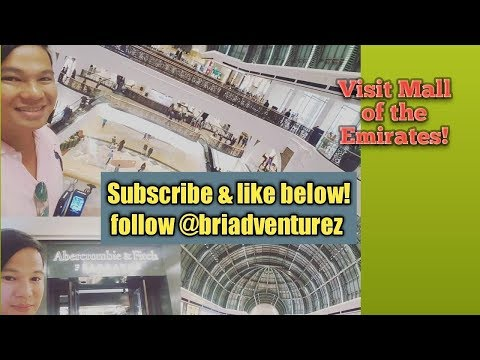 How to explore The Mall Of The Emirates in Dubai?