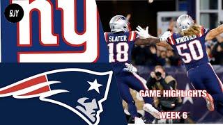 Giants vs Patriots Highlights Week 6 | NFL 2019