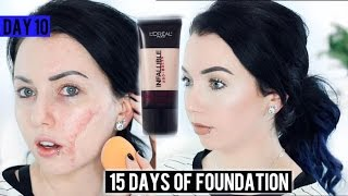 L'Oreal Infallible PRO MATTE 24HR FOUNDATION {First Impression Review & Demo!} 15 DAYS OF FOUNDATION