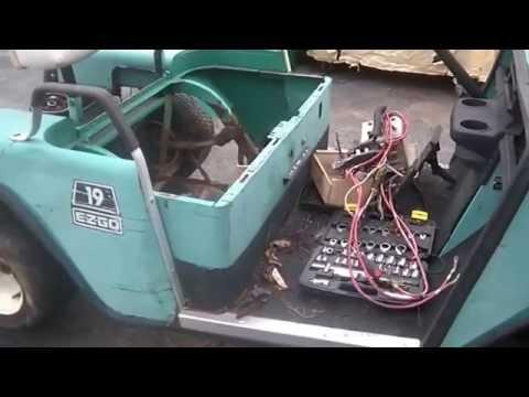 Golf Cart Wiring Diagram Ez Go 12 16 2014 1988 Ezgo Electric Golf Cart To Utv Part 2