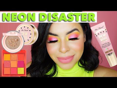 NEON WATERMELON Summer Makeup Tutorial | Huda beauty neon palette REVIEW thumbnail