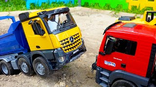Dump Truck with Excavator Car Toys Build Block Toy Activity