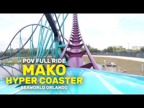 POV FULL RIDE: Mako Hyper Coaster at SeaWorld Orlando