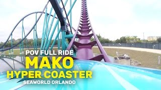 pov full ride mako hyper coaster at seaworld orlando