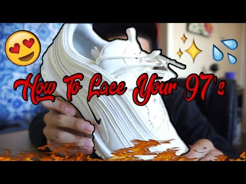 How To Lace Your Air Max 97's 🔥💦 (Loose Way) 10X BETTER